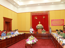 Ban Chỉ đạo Trung ương về PCTN  làm việc với Bộ Công an