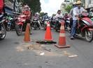 Xuất hiện 'hố tử thần' giữa giao lộ tại Gò Vấp