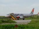 Máy bay bị sét đánh có vết xém đuôi ở TP Vinh