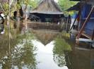 Triều cường dâng cao, nhà dân ngập trong nước