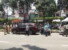 Va chạm ô tô trên đường Trường Chinh, 2 người bị đánh hội đồng