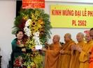 Chủ tịch Quốc hội chúc mừng Giáo hội Phật giáo tại TP.HCM