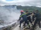Cháy ở dự án điện mặt trời TP Cam Ranh