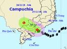 Bão số 9 thành áp thấp, suy yếu ở Campuchia
