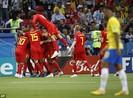Bỉ gây sốc, loại ứng viên số 1 Brazil khỏi World Cup 2018