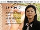 Phiên tòa cuối xét xử cựu thủ tướng Thái Lan Yingluck