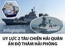 Uy lực 2 tàu chiến Hải quân Ấn Độ vừa thăm Hải Phòng