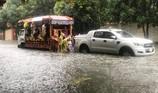 Video: Xót xa xe tang chết máy do mưa lớn nước ngập