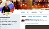 Twitter khóa tài khoản giả mạo Tổng thống Putin