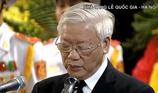 Điếu văn Tổng Bí thư tiễn biệt Chủ tịch nước Trần Đại Quang