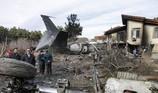 Xem hiện trường máy bay rơi ở Iran khiến 15 người chết