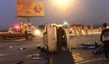 Ô tô Vios tông lật xe bán tải, một người tử vong