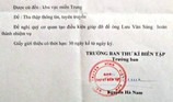 Làm rõ giả mạo giấy giới thiệu Ban thư ký biên tập VTV