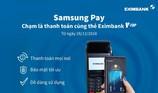 Thanh toán cùng thẻ Eximbank V-Top bằng ứng dụng Samsung Pay