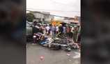 Clip: Hiện trường vụ tai nạn kinh hoàng ở Long An