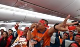 Siêu máy bay đưa cổ động viên sang Dubai tiếp lửa đội tuyển VN