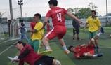 Kịch tính màn tranh tài bóng đá của cảnh sát, công an