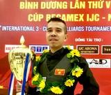 Trần Quyết Chiến đăng quang ấn tượng giải quốc tế Bình Dương