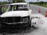 6 nghi can đốt xe chở giám đốc ở Hậu Giang bị bắt