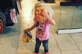 Cháu gái ông Trump mang mặt nạ ông nội dịp Halloween