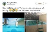 Du khách 'té ngửa' với mánh quảng cáo hồ bơi khách sạn