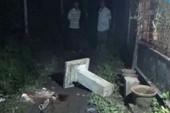 Bé gái 4 tuổi bị trụ bê tông bàn thờ đè tử vong