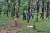 Thi thể người đàn ông chết cháy trong lô cao su ở Đồng Nai