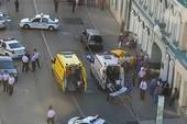 Ô tô lao vào đám đông ở Moscow