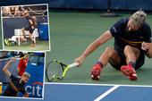 Đập gãy vợt, Benoit bị phạt gấp đôi số tiền thưởng
