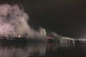 3 tàu cá bị cháy khi neo đậu tránh bão