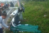 Nam thanh niên tử vong cạnh chiếc xe máy dính vào cột điện