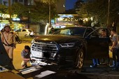 Xe Audi mất lái gây tại nạn liên hoàn giữa phố