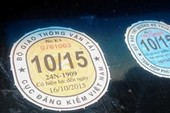 Sửa chữa tem kiểm định, bị phạt đến 4 triệu đồng
