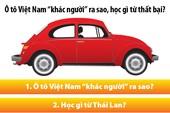 Ô tô Việt học được gì từ thất bại cay đắng?