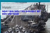 Ngày mai siêu tàu sân bay Mỹ đến Việt Nam