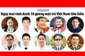 Ngày mai vinh danh 10 gương mặt trẻ Việt Nam tiêu biểu