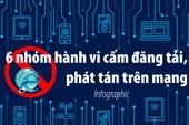 6 nhóm hành vi cấm đăng tải, phát tán trên mạng