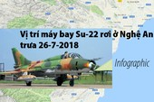 Vị trí máy bay Su-22 rơi ở Nghệ An trưa 26-7-2018