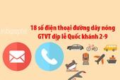 18 số điện thoại đường dây nóng  GTVT dịp lễ Quốc khánh 2-9
