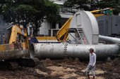 Máy bơm chống ngập khổng lồ có nguy cơ 'lỗi hẹn'
