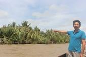 Dân chặn mỏ cát hoạt động trên sông Hàm Luông