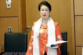 Cho thôi đại biểu Quốc hội đối với bà Phan Thị Mỹ Thanh