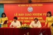 Bàn giao nhiệm vụ bộ trưởng Bộ TT&TT cho ông Nguyễn Mạnh Hùng