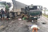 Ba xe tải tông nhau, 1 phụ nữ chết thảm
