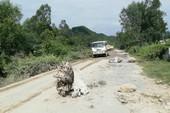 Người dân lại chặn xe chở đất đá thi công các dự án ở Nghệ An