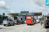Kẹt xe tại Trạm thu phí BOT Cai Lậy- Tiền Giang