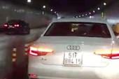 Xe Audi chạy vào làn xe máy ở hầm Thủ Thiêm sẽ bị phạt