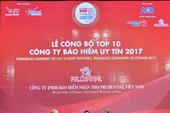 Prudential dẫn đầu top 10 công ty BHNT uy tín