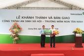 Vietcombank bàn giao trường mầm non 3 tỉ tại Quảng Bình