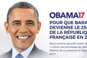 Dân Pháp muốn ông Obama thành tổng thống Pháp